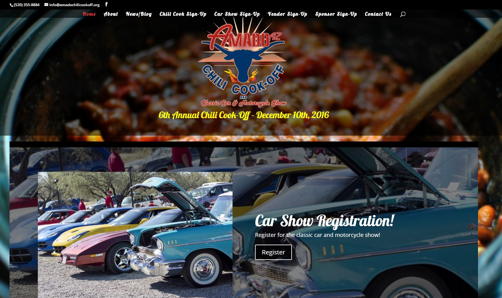 Amado Chili Cook-Off and Classic Car Show website